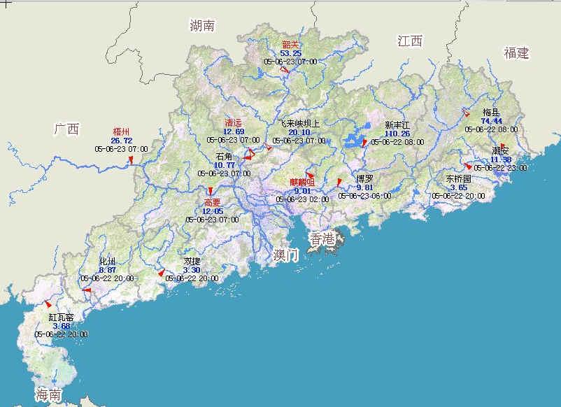 今天的广东卫星云图,水雨图,天气预报图片