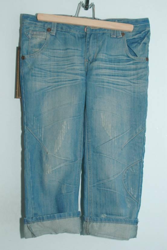 潮爆七分牛仔裤,可折叠 特价100-清清清货货货 欧日韩款式