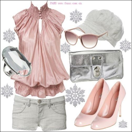 分享几set粉嫩色系搭配 个人满喜欢的