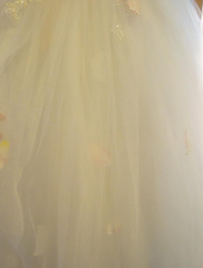 爱的公主式浪漫婚纱附本人穿着效果图 低价转天长地久全场免租礼服
