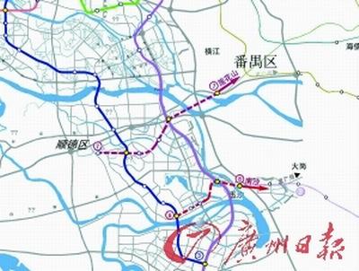 中,引人注目的佛山地铁7号线、8号线路图.-广佛同城 顺德网友盼图片