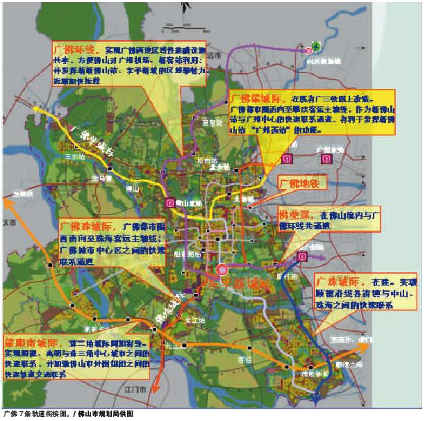 顺德陈村手绘地图