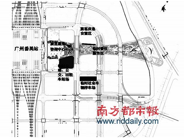 广州南站(广州新火车站)30日启用 交通部门公布交通接驳方案